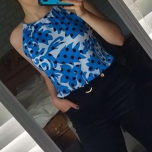Halter neck tie top. Cynthia Rowley Patterned Tank